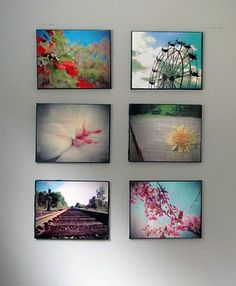 DIY photo canvas w/ modge podge Photo Projects, Diy Projects To Try, Art Projects, Diy Artwork, Diy Wall Art, Office Artwork, Wall Decor, Room Decor, Diy Photo
