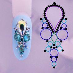 """Tata Customizacao & Cia on Instagram: """"www.tatacustomizacao.com.br . . . . . #nails #unhas #unhasdasemana #esmalte #esmaltes #unhasdecoradas #esmaltedasemana #esmaltesecores…"""" Gem Nails, Bling Nails, Nail Art Hacks, Gel Nail Art, Ombre Nail Designs, Nail Art Designs, Diy Rhinestone Nails, Diamond Nail Art, Nagel Bling"""