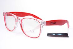 Frogskins Oakley Brillen Replica Auslass Red Transparent
