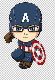 Captain America Iron Man Spider-Man Cartoon Chibi PNG - Free Download