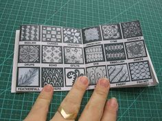 Tangles portabe booklet to print and make your own for designs reference