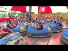 Tuck and Roll's Drive 'Em Buggies (Off-Ride) Disney California Adventure - YouTube