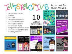 Over 400 pages of INTERACTIVE short vowel activities!!