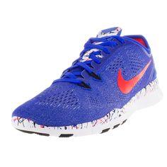 6af509a8daeb7 Nike Women s Free .0 Tr Fit Prt ue Brgh Black White Training