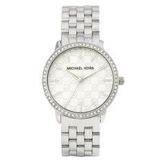 Michael Kors Women's MK3372 'Darci' MK Logo Crystal Stainless Steel Watch
