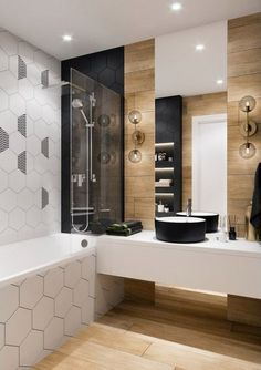 ideas bathroom tiles hexagon decor for 2019 New Bathroom Designs, New Bathroom Ideas, Bathroom Design Small, Bathroom Wall Decor, Bathroom Layout, Bathroom Colors, Bathroom Interior Design, Home Interior, Bathroom Inspiration