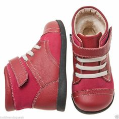 Little Blue Lamb Girls Infant Red + Cream Laces Toddler Boots / Shoes in Clothes, Shoes & Accessories, Kids' Clothes, Shoes & Accs., Girls' Shoes | eBay