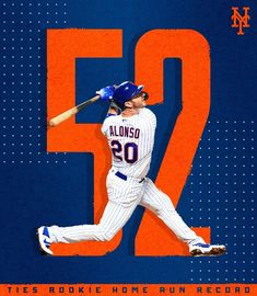 Congratulations for tying the Rookie Home Run record! You are the 🍎 of fans' eyes ❄️🐻 petealonso homerunking roy rookie polarbear polarpower lfgm lgm nym nymets mets metsies theamazins Ny Mets, New York Mets, How Soon Is Now, Lets Go Mets, Better Baseball, Esports, Beast Mode, Bad Boys, Mlb