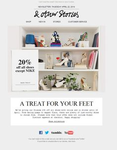 & Other Stories Newsletter | Shoe treat: 20% off