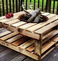 If you love pallet projects, you are at right place. You might have made some useful home projects with old wood pallets but you will still be surprised when you see these awesome creations below. In (Diy Garden Pallet) Pallet Crafts, Diy Pallet Projects, Outdoor Projects, Wood Crafts, Woodworking Projects, Teds Woodworking, Diy Projects With Pallets, At Home Projects, Diy With Pallets