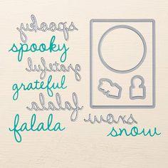 Seasonal Frame Thinlits [     ] (Set/8) coordinates with Sparkly Season (2015 Holiday Catalog)