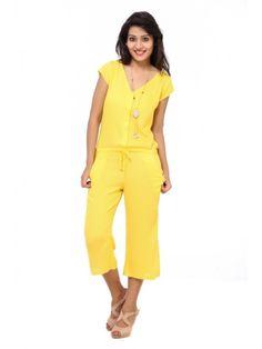 86492500db51 Rayon Yellow Jumpsuits - Jumpsuits - By Cottinfab.com