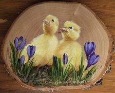 Bird Painting Acrylic, Wood Painting Art, Pebble Painting, Decorative Painting Projects, Jungle Art, Chicken Art, Bird Artwork, Fashion Wall Art, Wooden Art