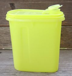 Tupperware Pitcher (my mom still has hers but the yellow tab to close the lid is gone)