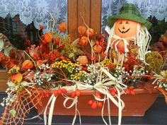 Autumn, Fall, Halloween, Decoration, Flowers, Painting, Inspiration, Home Decor, Creative