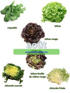 Août, fruits et légumes de saison