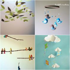 Find many DIY mobile projects with this pin, including birds, leaves and kites.