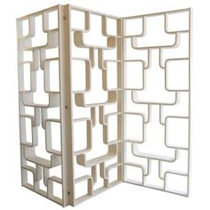 3 - panel screen / room divider / bookcase