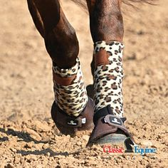 Not a big fan of anything printed on my horses but i like the leopard polo wraps Horse Boots, Horse Gear, Equestrian Boots, My Horse, Horse Love, Equestrian Style, Horse Tack, Horse Saddles, All The Pretty Horses