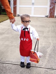 Halloween costume - colonel sanders: this was my favorite costume for our s 1 Year Old Costumes, Halloween Costume 2 Year Old, Toddler Boy Halloween Costumes, Food Costumes, Fairy Halloween Costumes, Cute Costumes, Baby Halloween, Costume Ideas, Carnival