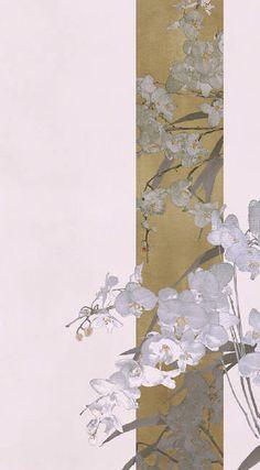 Flower Wallpaper, Wallpaper Backgrounds, Iphone Wallpaper, Art And Illustration, Style Oriental, Chinese Art, Japanese Art, Aesthetic Wallpapers, Asian Art