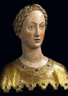 Buste reliquaire de sainte Mabille Siena, ca. 1370-80