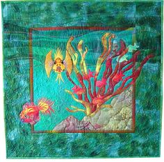 Fab Fishes quilt pattern by Mary Transom - Quilt Artist (New Zealand)