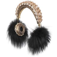 DOLCE & GABBANA Frends Embellished Headphones (103 505 ZAR) ❤ liked on Polyvore featuring accessories, other and dolce&gabbana