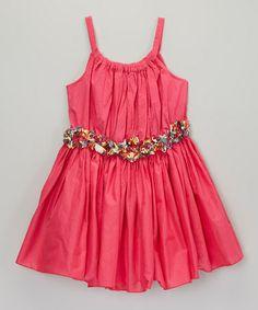 Another great find on #zulily! Fuchsia Sanary Dress - Toddler & Girls #zulilyfinds