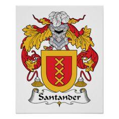 Santander Family Crest Poster
