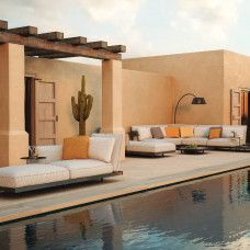 Kissenset Kategorie B Royal Botania, Villa, Outdoor Furniture, Outdoor Decor, Aluminium, Sun Lounger, Pergola, Exterior, Outdoor Structures