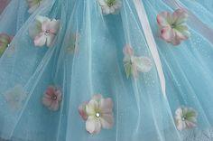 Aqua Tutu with Flowers