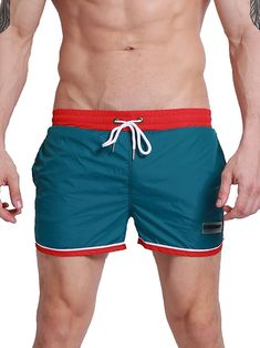 248b74b6f2 Men's Dry Fit Short with Pockets - 0803 Green - CU12HEXX8ZV,Men's Clothing,  Active