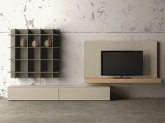 Mueble modular de pared composable con soporte para tv SLIM EVOLUTION 56 Colección Slim by Dall'Agnese | diseño Imago Design, Massimo Rosa