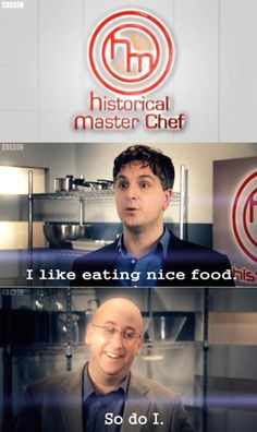 Historical Masterchef: the reason I can't watch the real thing