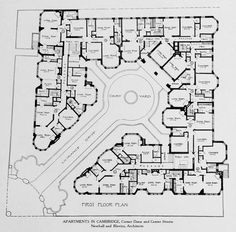 Plan of an apartment complex in Cambridge