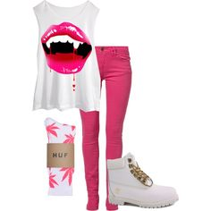 A fashion look from March 2015 featuring Wildfox tops, Morgan jeans and HUF socks. Browse and shop related looks.