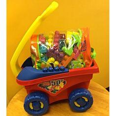 Wagon with over 100 Mega Bloks. - $18.99 #milasclosethawaii #resale #childrensboutique | Mila's Closet - Kaneohe, HI