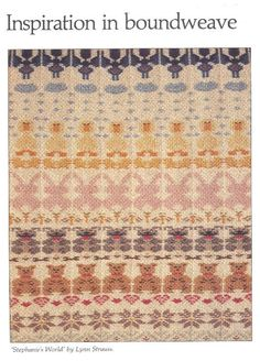 Another boundweave sampler
