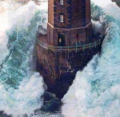 Lighthouse. Is that guy on a smoke break?