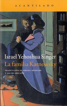 La familia Karnowsky / Israel Yehoshua Singer http://cataleg.ub.edu/record=b2151845~S1*cat A través de la historia de tres generaciones de una familia judía, los Karnowsky, esta novela, publicada originalmente en 1943, nos ofrece un fresco extraordinario de la primera mitad del siglo xx. #llengmodernes_juny15