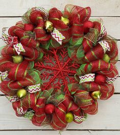 Check out this item in my Etsy shop https://www.etsy.com/listing/478722052/christmas-wreath-red-snowflake-red