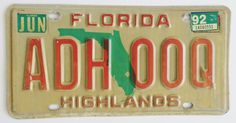 Highlands+County+Florida+License+Plate  $8.99 free shipping