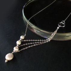 Freshwater Pearls Bridal Necklace  Handmade by NewMorningJewelry, $58.00