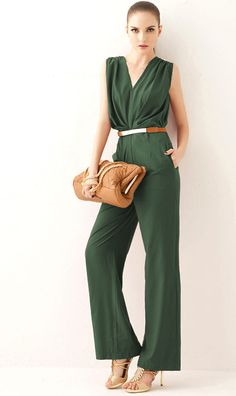 Elegant V-neck sleeveless jumpsuits