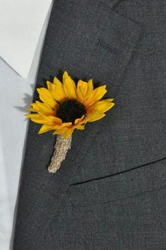 Sunflower button hole - deer pearl flowers