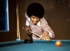Singer Michael Jackson of the R&B quintet 'Jackson plays pool at. Jackson 5, Paris Jackson, Young Michael Jackson, Play Pool, King Of Music, The Jacksons, Archangel Michael, Rare Pictures, He Is Able
