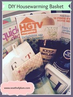 DIY Housewarming Basket - Real Estate Agents - great thank you gift for clients!