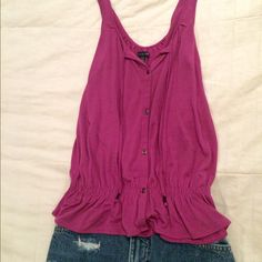 American Eagle Tank Adorable fuchsia American Eagle tank top. Never worn, just like new. American Eagle Outfitters Tops Tank Tops