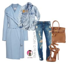 """""""Untitled #2821"""" by stylebydnicole ❤ liked on Polyvore featuring Hermès, Vince, Gap, Giuseppe Zanotti and Chanel"""